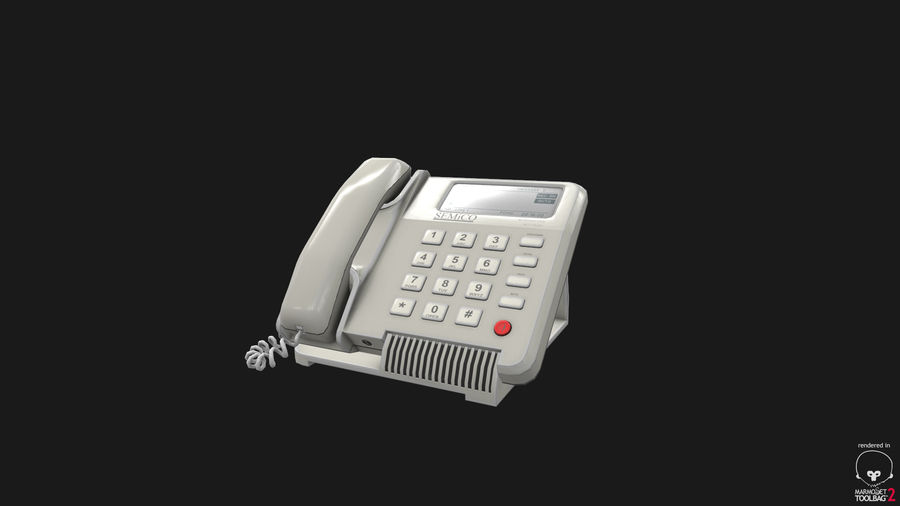 Telefone Comercial royalty-free 3d model - Preview no. 10