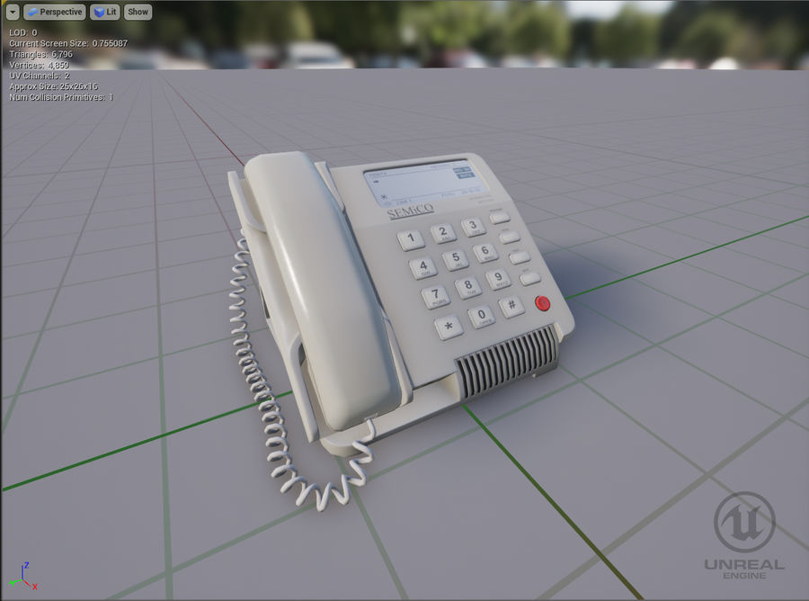 Telefone Comercial royalty-free 3d model - Preview no. 6