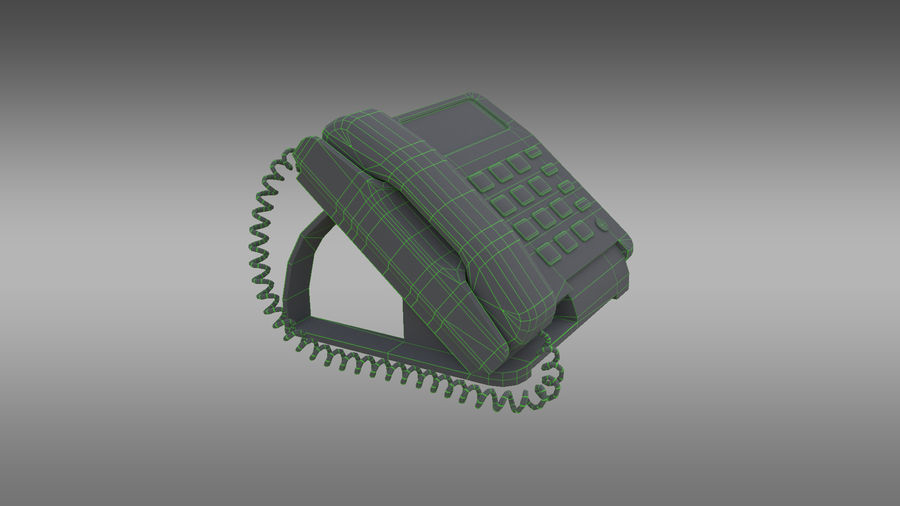 Telefone Comercial royalty-free 3d model - Preview no. 4
