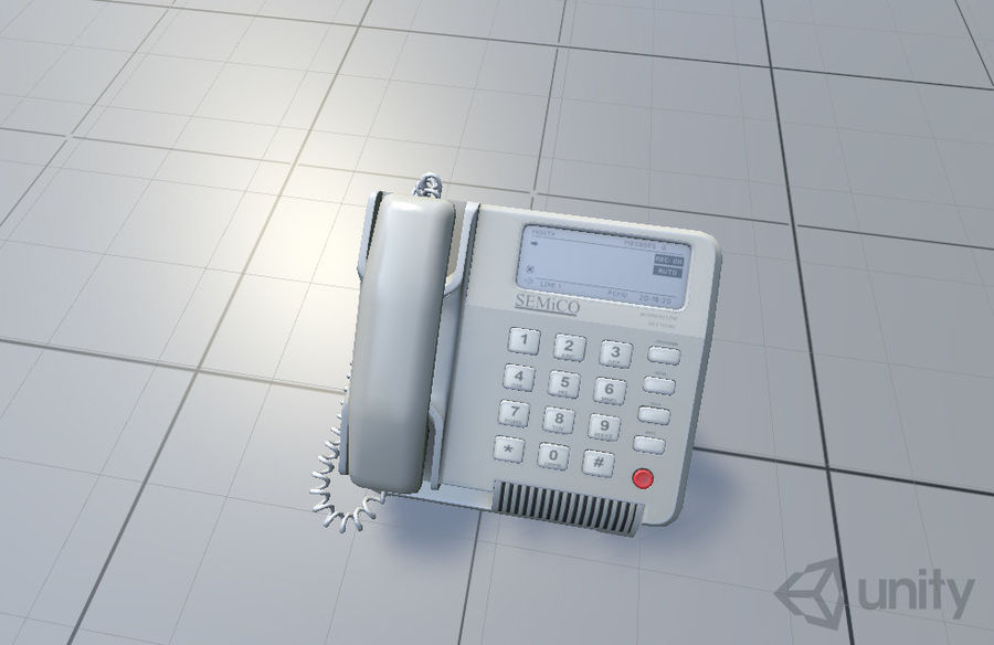 Telefone Comercial royalty-free 3d model - Preview no. 9