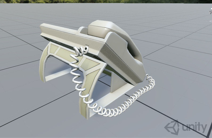 Telefone Comercial royalty-free 3d model - Preview no. 8