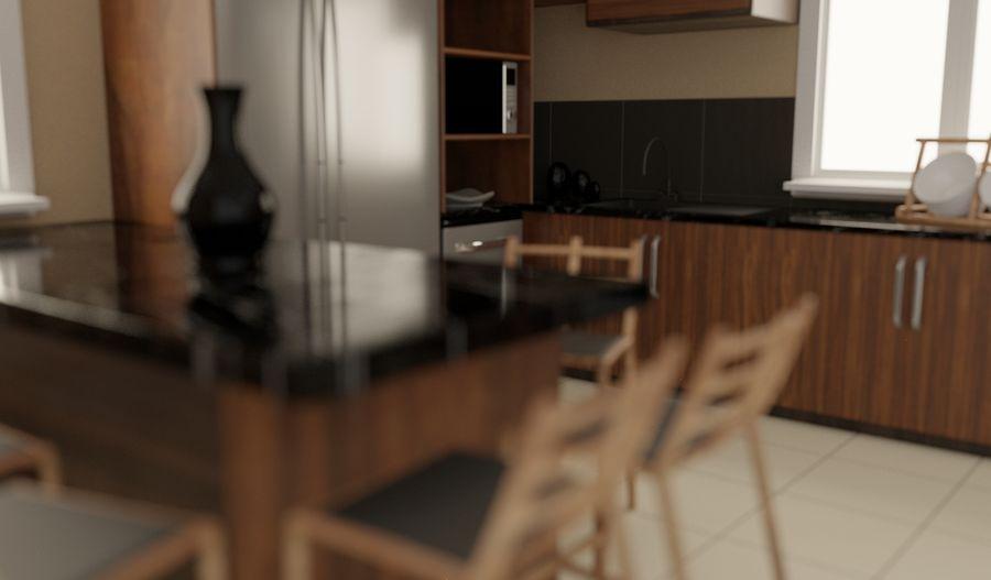 Modernt kök royalty-free 3d model - Preview no. 4