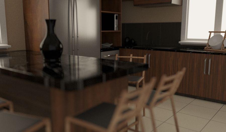 Modernt kök royalty-free 3d model - Preview no. 5