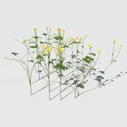 爬行毛cup花包 3d model
