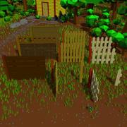 Ogrodzenia drewniane 3d model