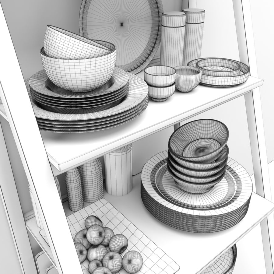 Kitchen Accessories royalty-free 3d model - Preview no. 3