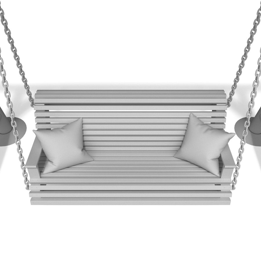 Wooden swing royalty-free 3d model - Preview no. 12