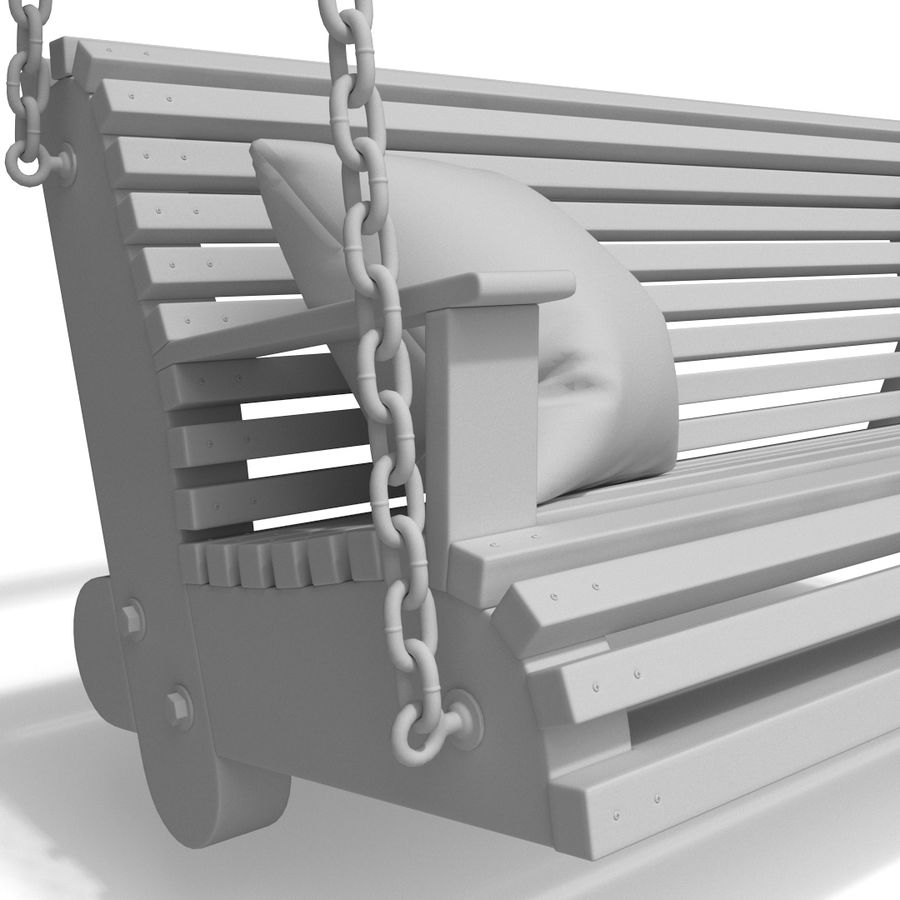 Wooden swing royalty-free 3d model - Preview no. 11