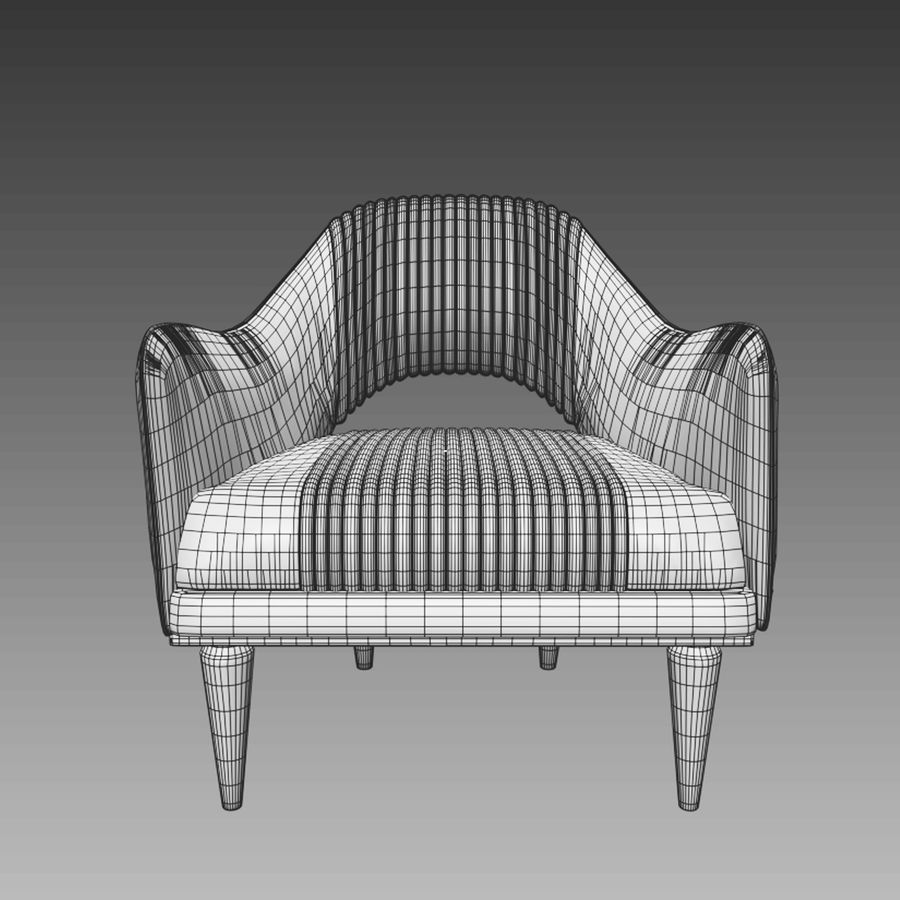 poltrona Cipriani Cocoon royalty-free 3d model - Preview no. 5
