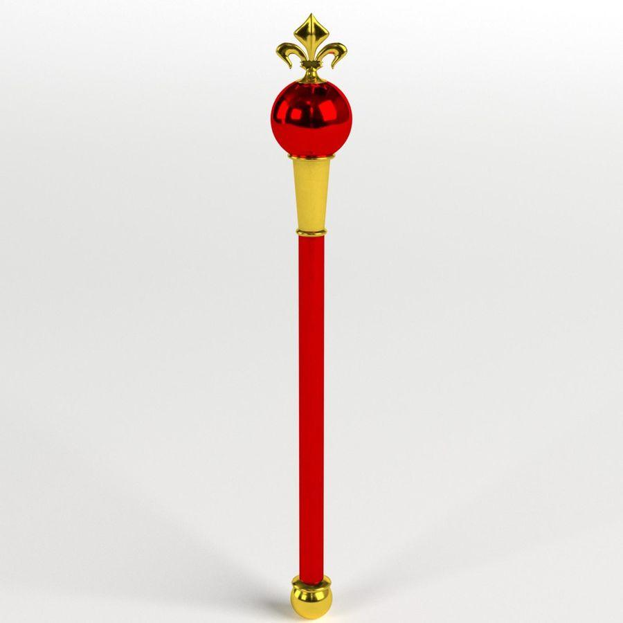 Heraldisches Zepter royalty-free 3d model - Preview no. 1