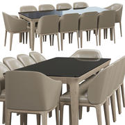 Busnelli Manda stoel en tafel 1 3d model