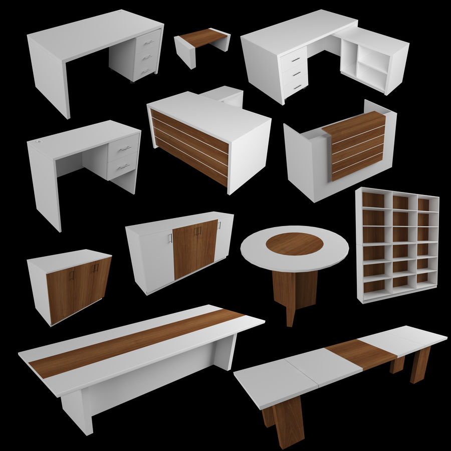 MEUBELCOLLECTIE FR001 royalty-free 3d model - Preview no. 1