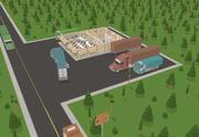 Restaurant Cartoon Assets 3d model