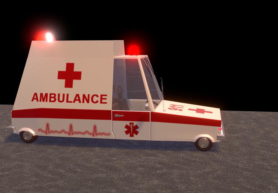 Coche de ambulancia royalty-free modelo 3d - Preview no. 3