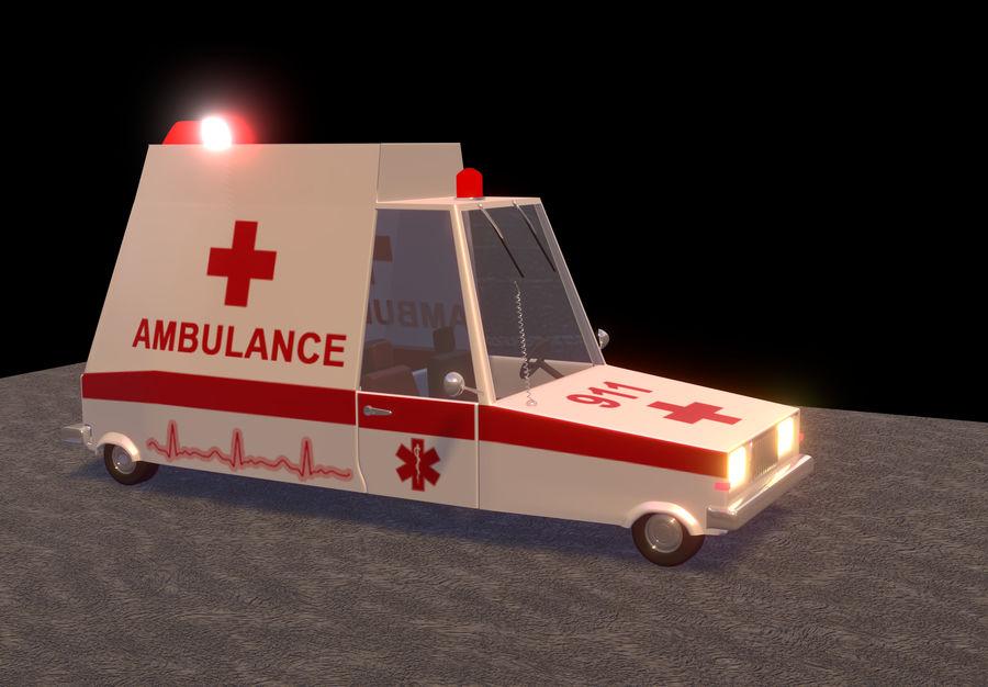 Coche de ambulancia royalty-free modelo 3d - Preview no. 2