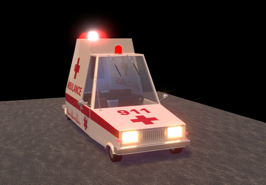 Coche de ambulancia royalty-free modelo 3d - Preview no. 11