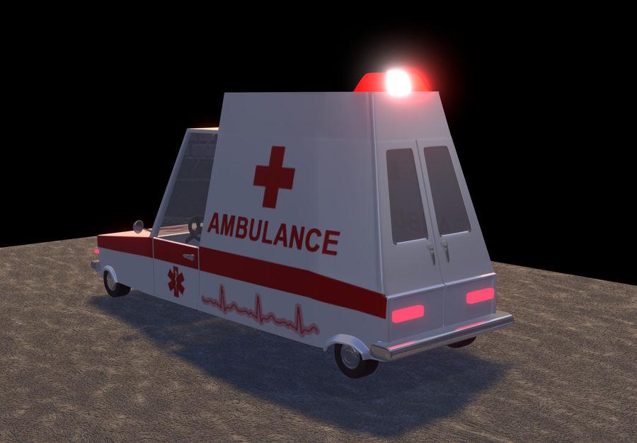 Coche de ambulancia royalty-free modelo 3d - Preview no. 7