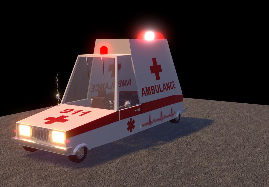 Coche de ambulancia royalty-free modelo 3d - Preview no. 9