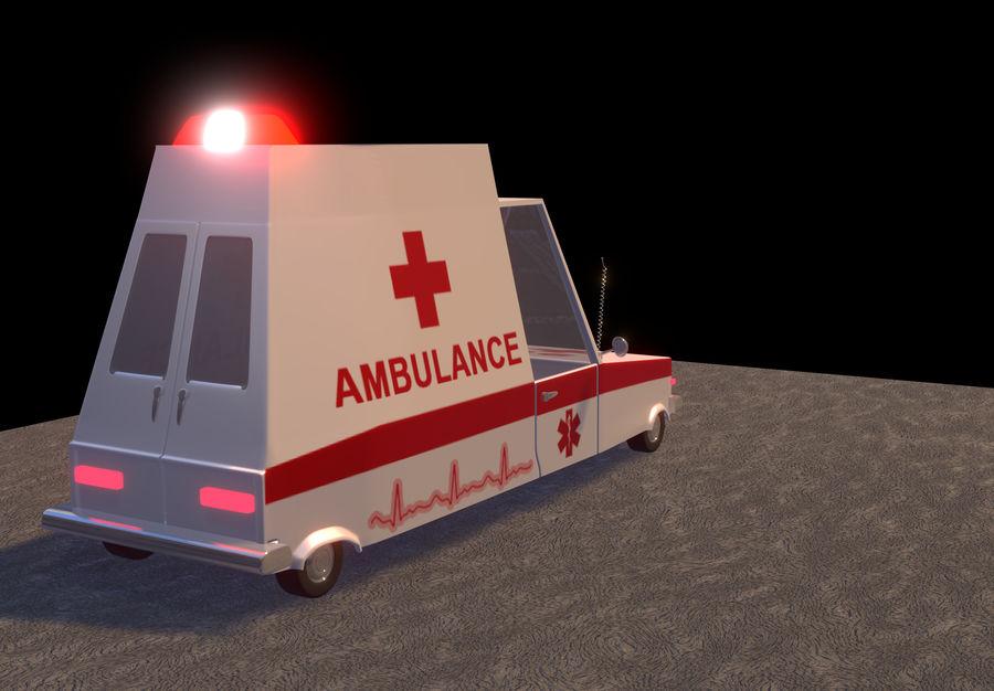 Coche de ambulancia royalty-free modelo 3d - Preview no. 5
