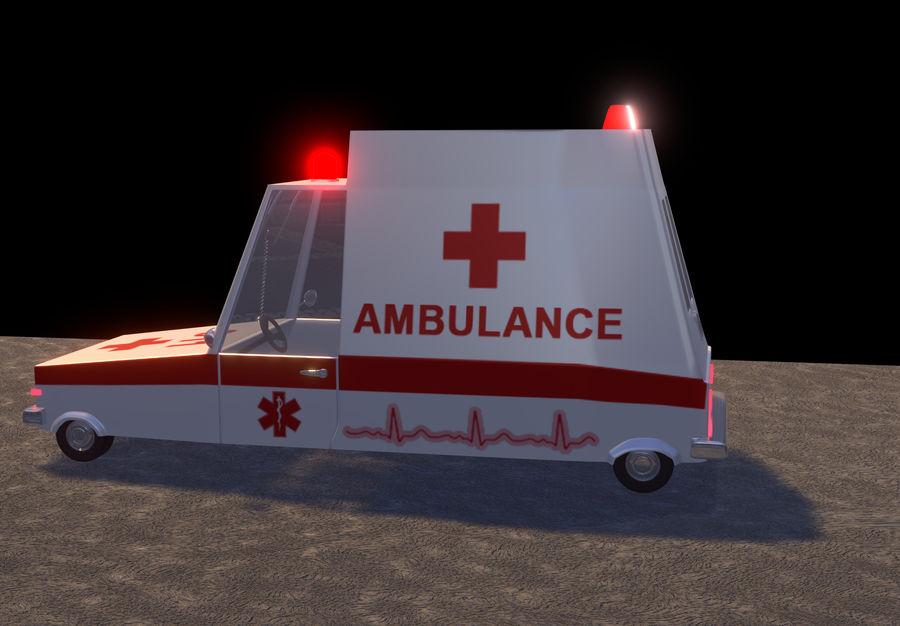 Coche de ambulancia royalty-free modelo 3d - Preview no. 8