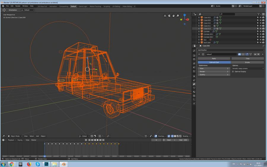 Coche de ambulancia royalty-free modelo 3d - Preview no. 13