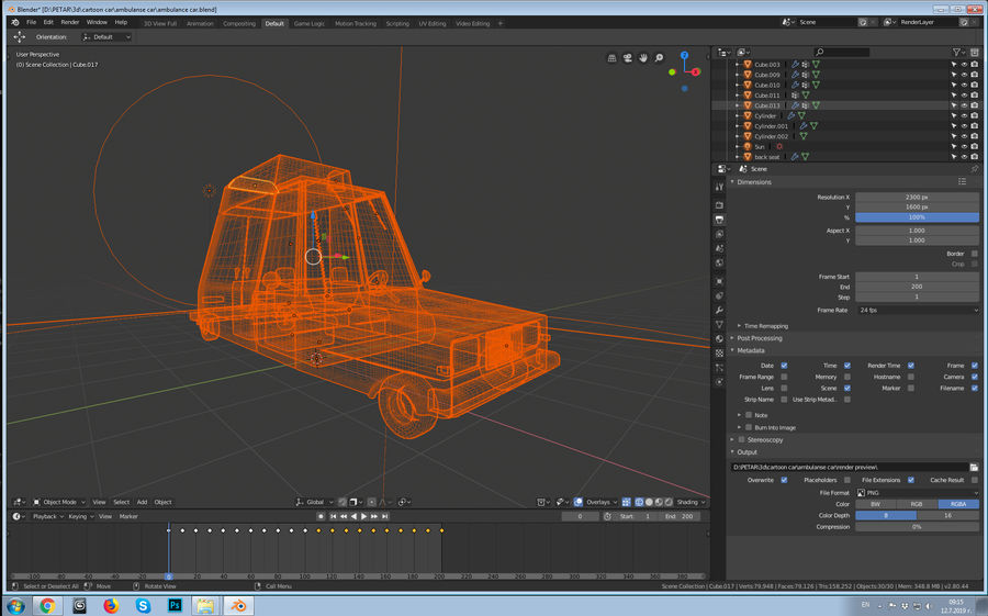 Coche de ambulancia royalty-free modelo 3d - Preview no. 12
