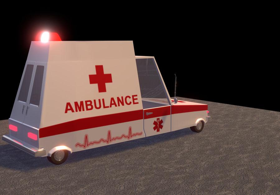 Coche de ambulancia royalty-free modelo 3d - Preview no. 4