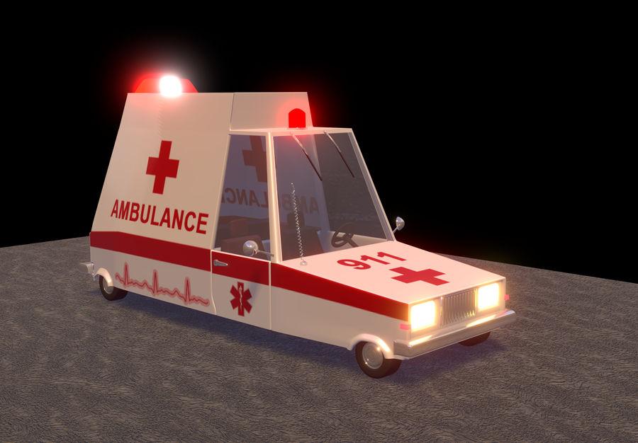 Coche de ambulancia royalty-free modelo 3d - Preview no. 1