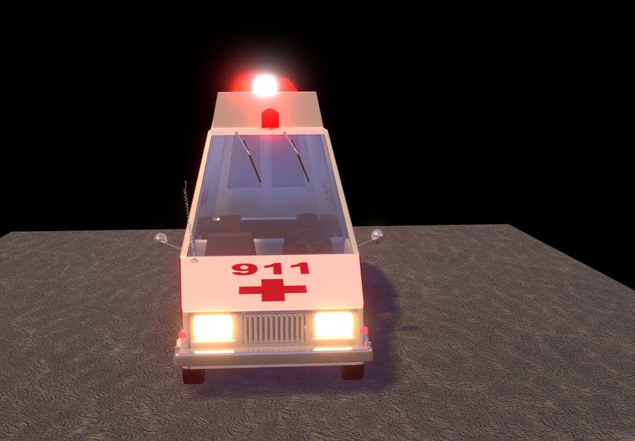 Coche de ambulancia royalty-free modelo 3d - Preview no. 10
