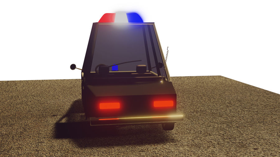 Auto della polizia royalty-free 3d model - Preview no. 9