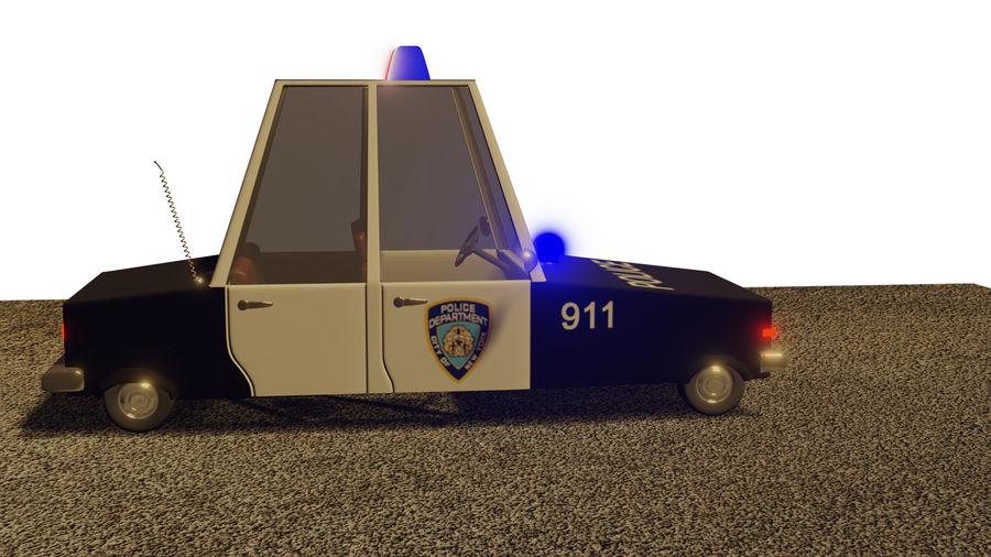 Auto della polizia royalty-free 3d model - Preview no. 5