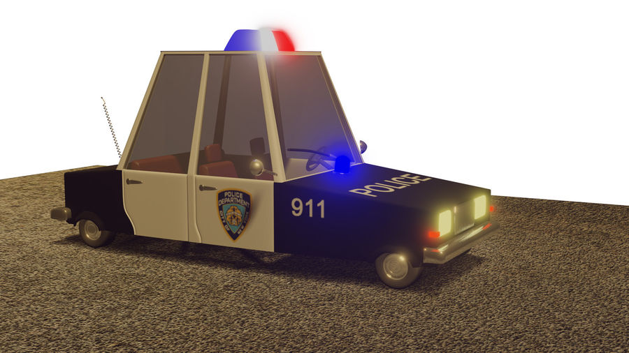 Auto della polizia royalty-free 3d model - Preview no. 3