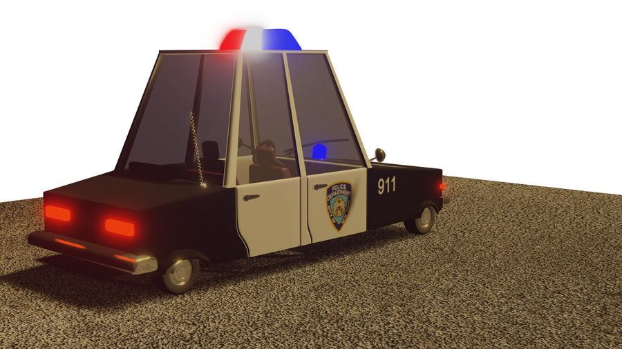 Auto della polizia royalty-free 3d model - Preview no. 7
