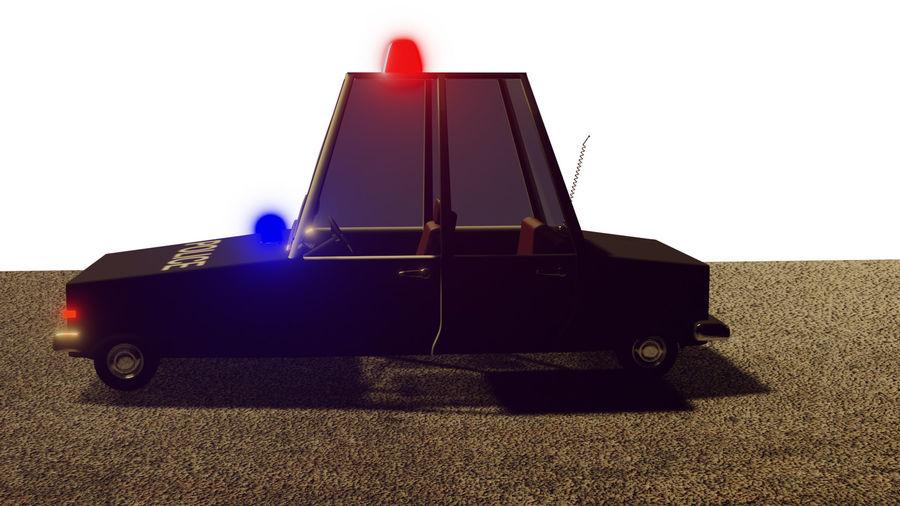 Auto della polizia royalty-free 3d model - Preview no. 10