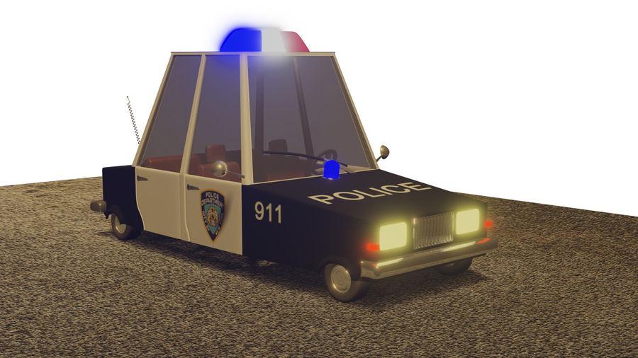 Auto della polizia royalty-free 3d model - Preview no. 1