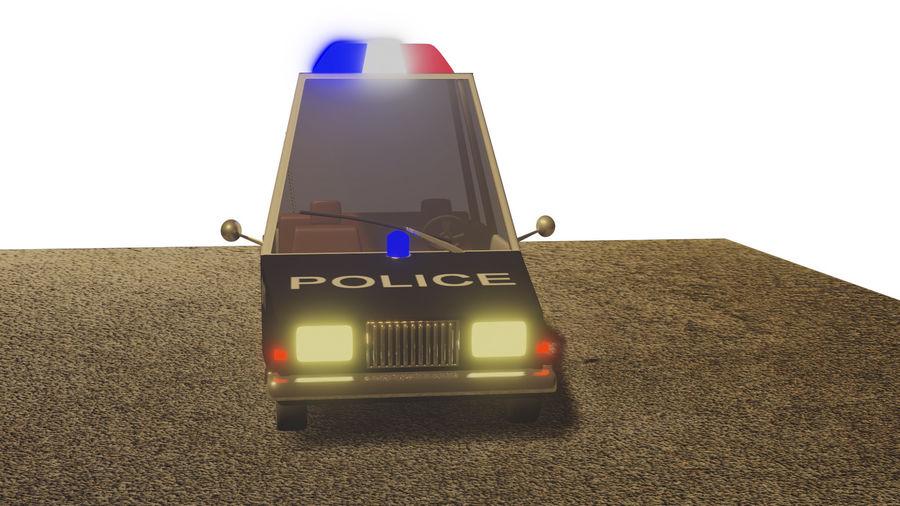 Auto della polizia royalty-free 3d model - Preview no. 11