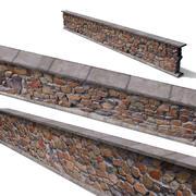 Granite wall based-scan 3d model