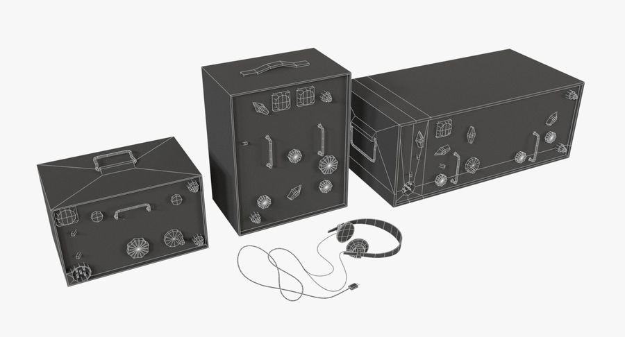 Немецкое радио Второй мировой войны royalty-free 3d model - Preview no. 10