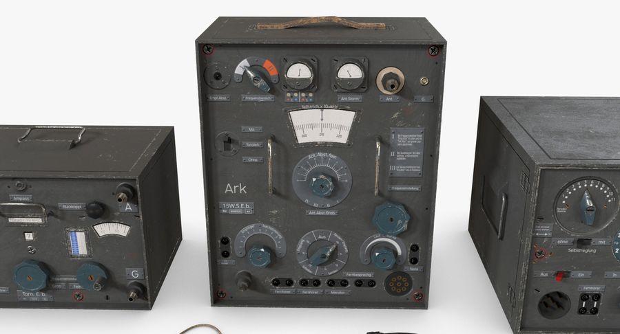 Немецкое радио Второй мировой войны royalty-free 3d model - Preview no. 17