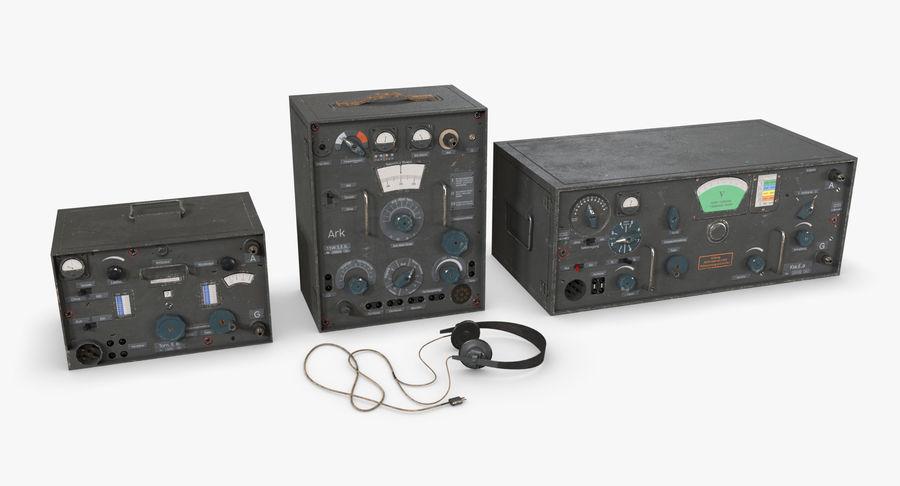 Немецкое радио Второй мировой войны royalty-free 3d model - Preview no. 2