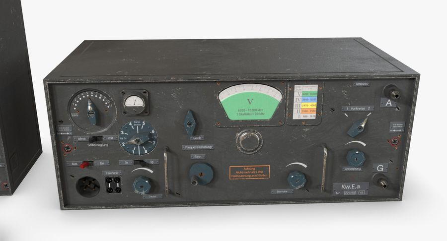 Немецкое радио Второй мировой войны royalty-free 3d model - Preview no. 18