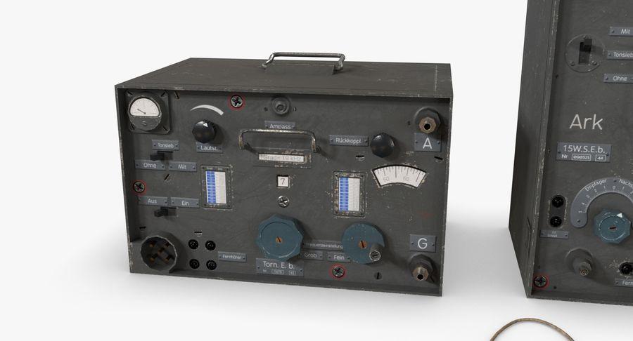 Немецкое радио Второй мировой войны royalty-free 3d model - Preview no. 14