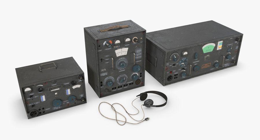 Немецкое радио Второй мировой войны royalty-free 3d model - Preview no. 11
