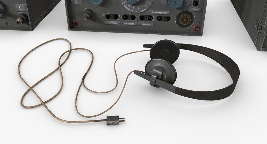 Немецкое радио Второй мировой войны royalty-free 3d model - Preview no. 19