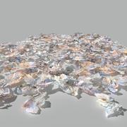 カエデの葉の乾燥パック 3d model