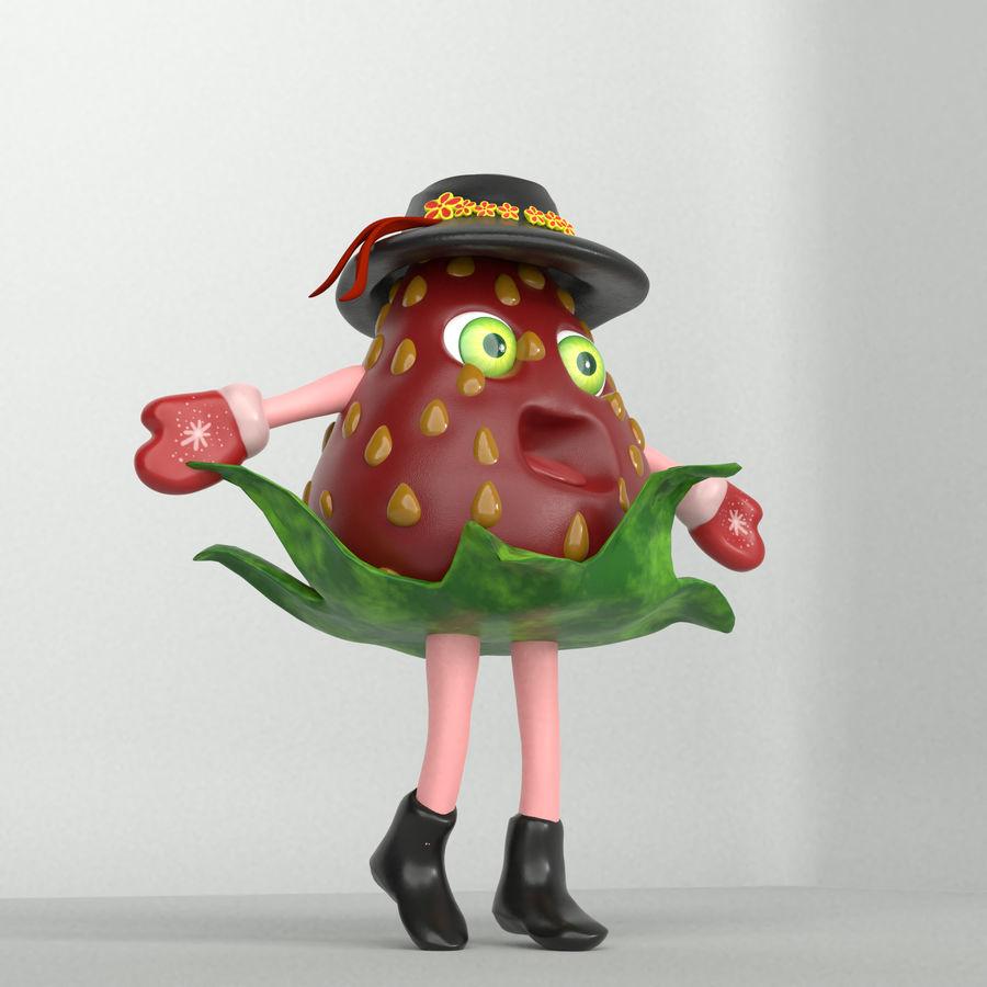 草莓浆果字符 royalty-free 3d model - Preview no. 4