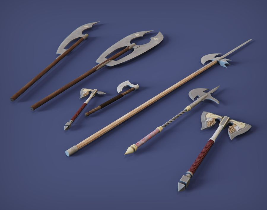 Medieval weapons royalty-free 3d model - Preview no. 1