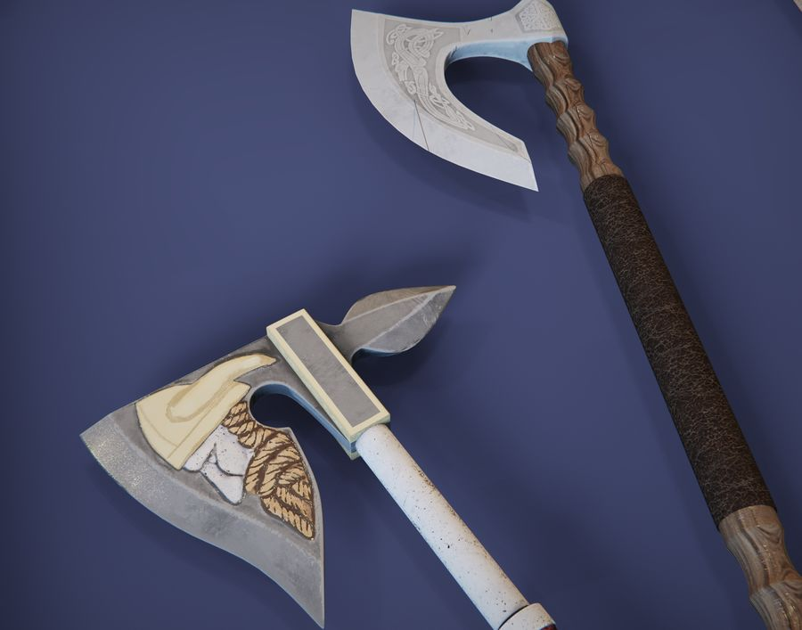 Medieval weapons royalty-free 3d model - Preview no. 5