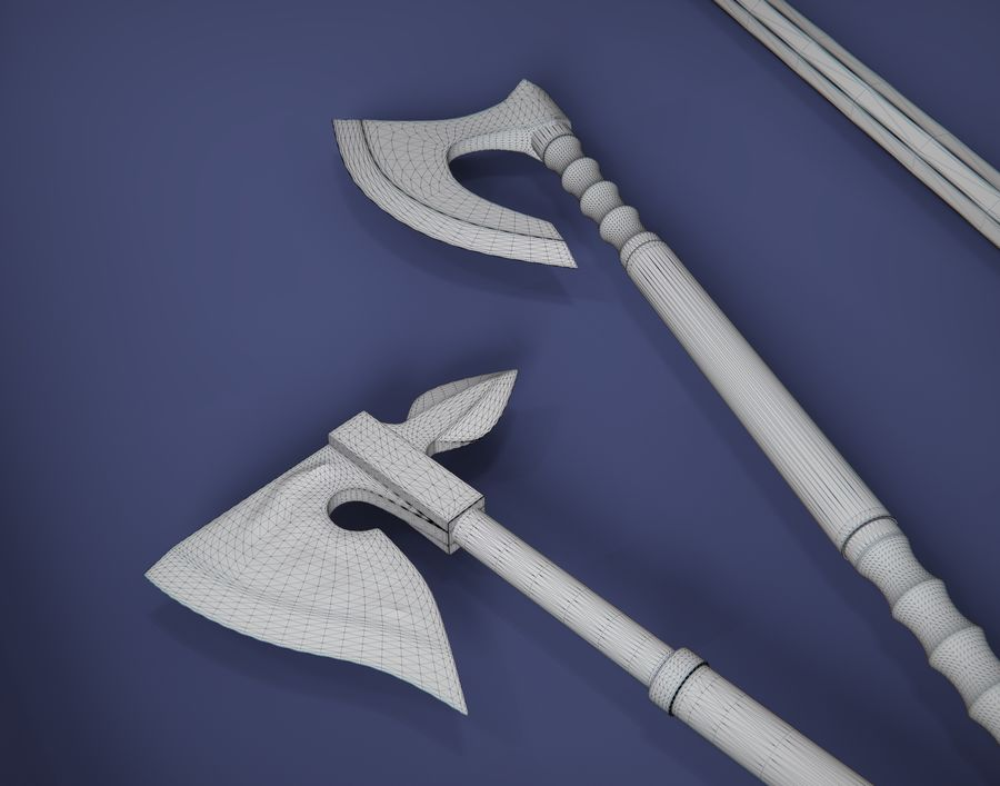 Medieval weapons royalty-free 3d model - Preview no. 6