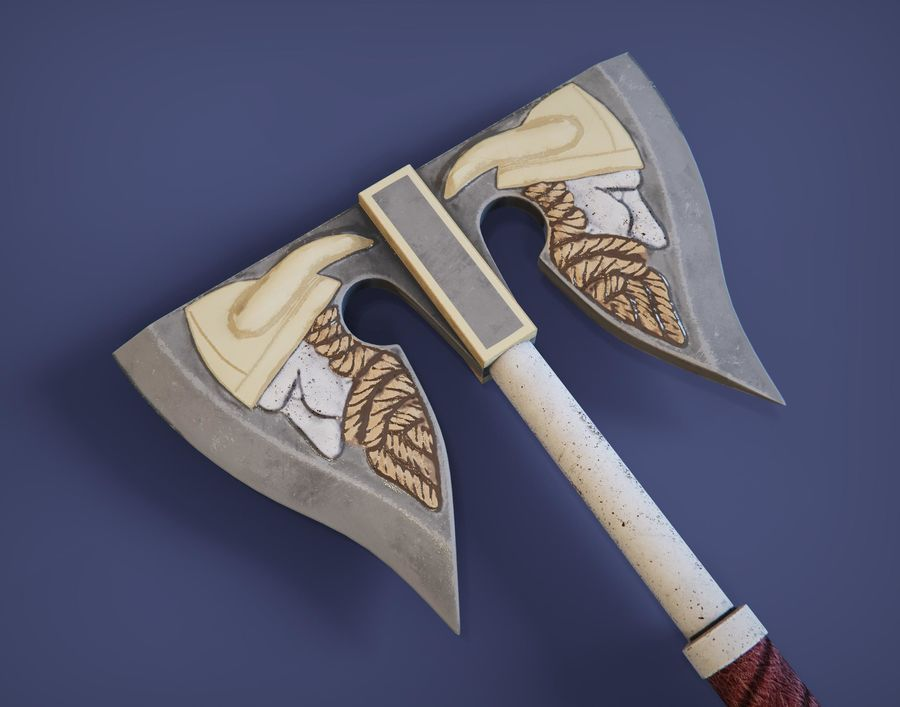 Medieval weapons royalty-free 3d model - Preview no. 4